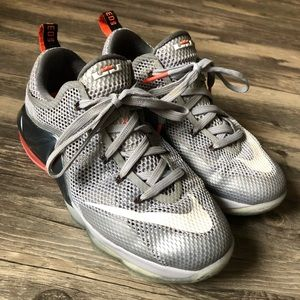 Nike LeBron 12 Low GS Wolf Grey Sneakers